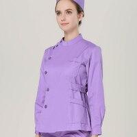 Cheap women hospital medical scrub clothes set sale design slim fit dental scrubs beauty salon nurse uniform spa