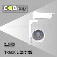 Free shipping 2015 New 30W COB track light high quality COB led rail light decorative Clothing store track spot lighting