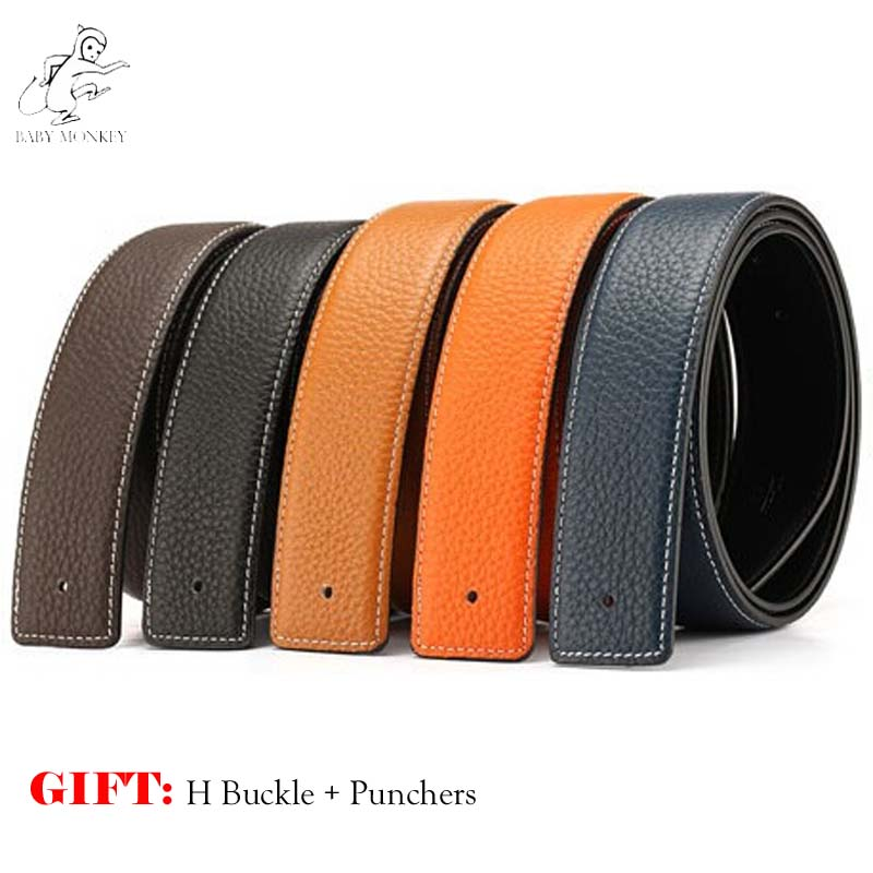 2017 New Copper Luxury H Belt Brand Designer Belts Men High Quality Male Business First Layer