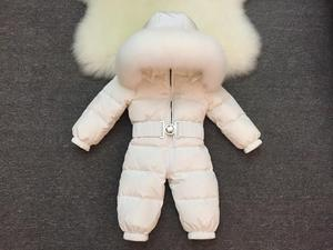 Image 3 - 2019 New Baby Boys Girls Winter Rompers Children Outerwear Jackets Coats Thicken Winter Warm Hoodie Clothes Windproof Snowsuit