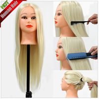 24 30 Real Human Hair Hairdressing Training Practice Head For School New