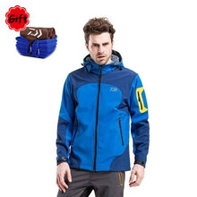 Outdoor Sports Daiwa Fishing Clothing Jacket Winter Spring Men Keep Warm Sunproof Fishing Jersey Climbing Hiking Fleece Clothes недорого