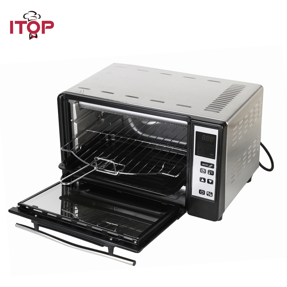 ITOP New 10L Household Infrared Oven electric timer making biscuits bread cake pizza Cookies baking machine 1300W EU Plug dmwd mini toaster electric oven multifunction timer making biscuits bread cake pizza cookies baking machine 12l liter 900w eu us page 3