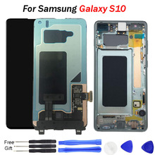 For Samsung S10 LCD Display Galaxy Super AMOLED 2019 G9730 G973F Touch Screen Digitizer Assembly Replacement lcd