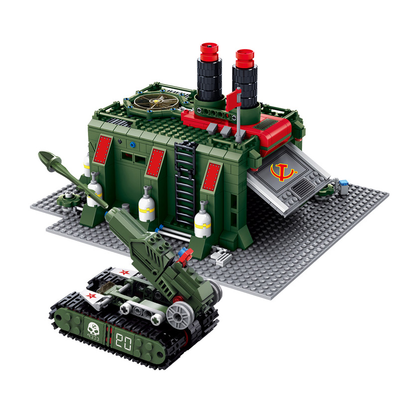 KAZI War Factory Red Alert 3 Army Tank Action Model Building Blocks Bricks Plastic Lepin Educational Toys Gifts For Children large military 8 in1 747pcs 8 figures building blocks tank warship army war toys for children constructor set compatible lepin