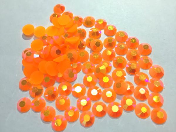 3 mm geléia laranja AB cor SS10 strass resina cristal flatback, Nail Art strass, 100,000 pçs/saco