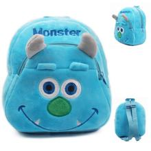 2018 Monsters University Plush Students In School Bag Backpack Children In Kindergarten Mini Schoolbag Mochila Escolar(China)