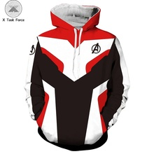 Avengers Endgame 4 Quantum Realm 3D Print Hoodies Men Fitness Pullover Sweatshirts Cosplay Costume Streetwear X Task Force S-6XL