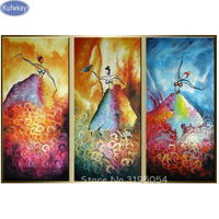 New 5D DIY Diamond Painting Private Custom Photo Diamond Painting Full Square pattern Diamond Embroidery woman dancing triptych