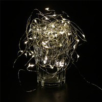 1X Rechargeable Solar Copper Wire String Light 120LED 13 5M Outdoor Waterproof Fairy Patio Lamp For