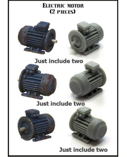 1/35 Electric Motor Accessories    Resin Model Miniature  Figure Unassembly Unpainted