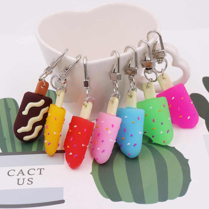 Bonito llavero de helado para mujer, Popsicle, llavero colorido de verano, llavero, llavero, accesorio de Adorno