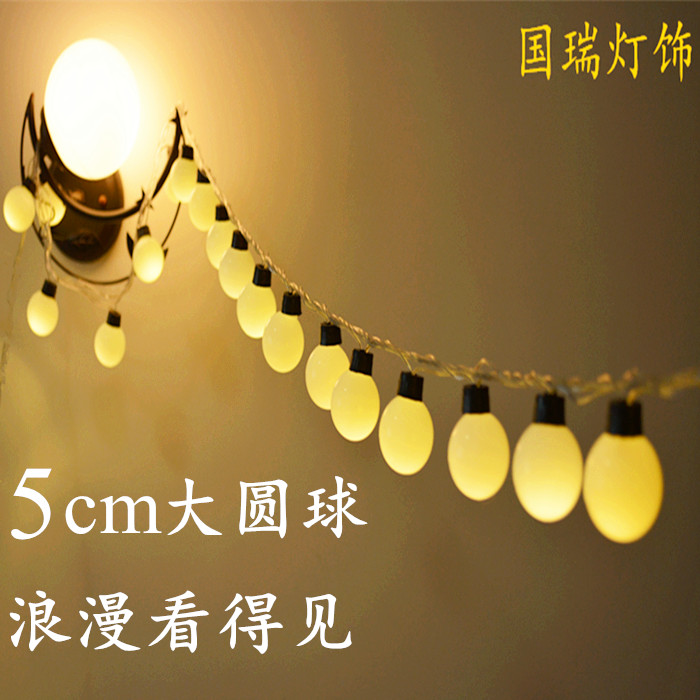 ФОТО Led lights flasher lamp set outdoor waterproof 5 ball lantern light bulb Christmas decoration lamp curtain lights