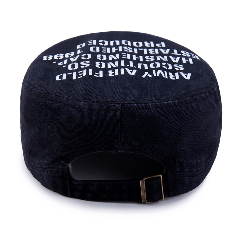 e398d1e7ee7 Cot Men Women Flat Top Cap Trendy Printing Letter Baseball Caps Casual Army  Cap Outdoor Sunhat for Unisex GH-801