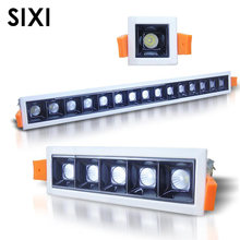 New COB LED Embedded Line Grille Light 2W 4W 10W 20W 30W Showcase Hotel Bold Lamp Clothing Store Office Light Mini Grille Light(China)