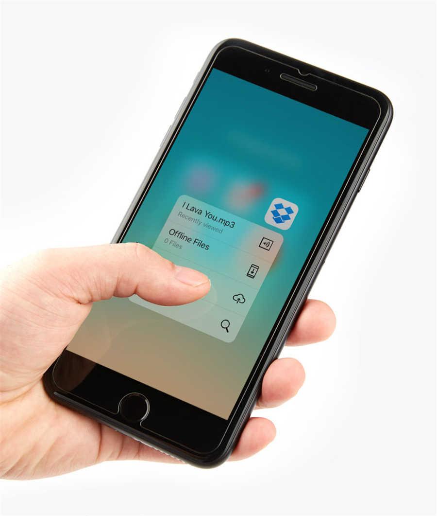 أعلى 9 H الزجاج المقسى ل فون Xs ماكس XR 8X10 4 4 s 5 5 s 5c SE 6 6 s زائد 7 واقي للشاشة فيلم حالة الهاتف حقيبة + القماش