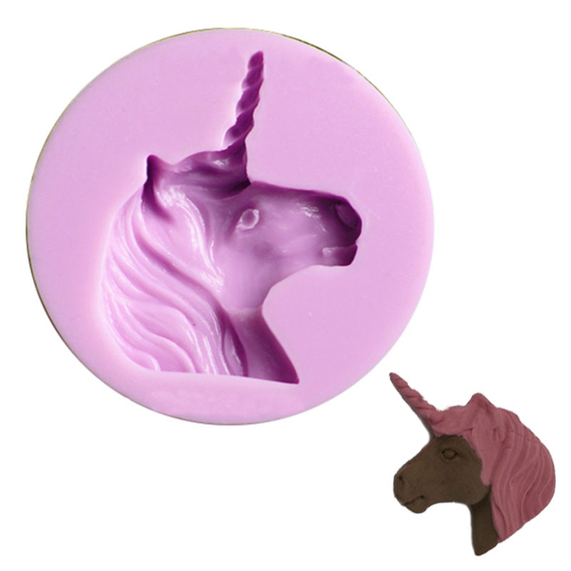 licorne silicone moule fimo diy fondant de d coration de g teau outil r sine en p te polym re. Black Bedroom Furniture Sets. Home Design Ideas