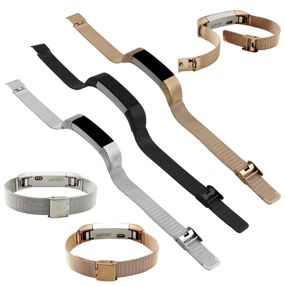 New Arrival 3 Colors Genuine Mesh Stainless Steel Bracelet Watch Band Strap For Fitbit Alta Tracker Bracelet High Quality lnop nylon rope survival strap for fitbit alta alta hr replacement band bracelet wristband watchband strap for fitbit alta