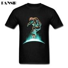 Screen Printing T Shirts Men's Space Skating Men T-shirt Short Sleeve Cotton Custom Guys Tops Tee