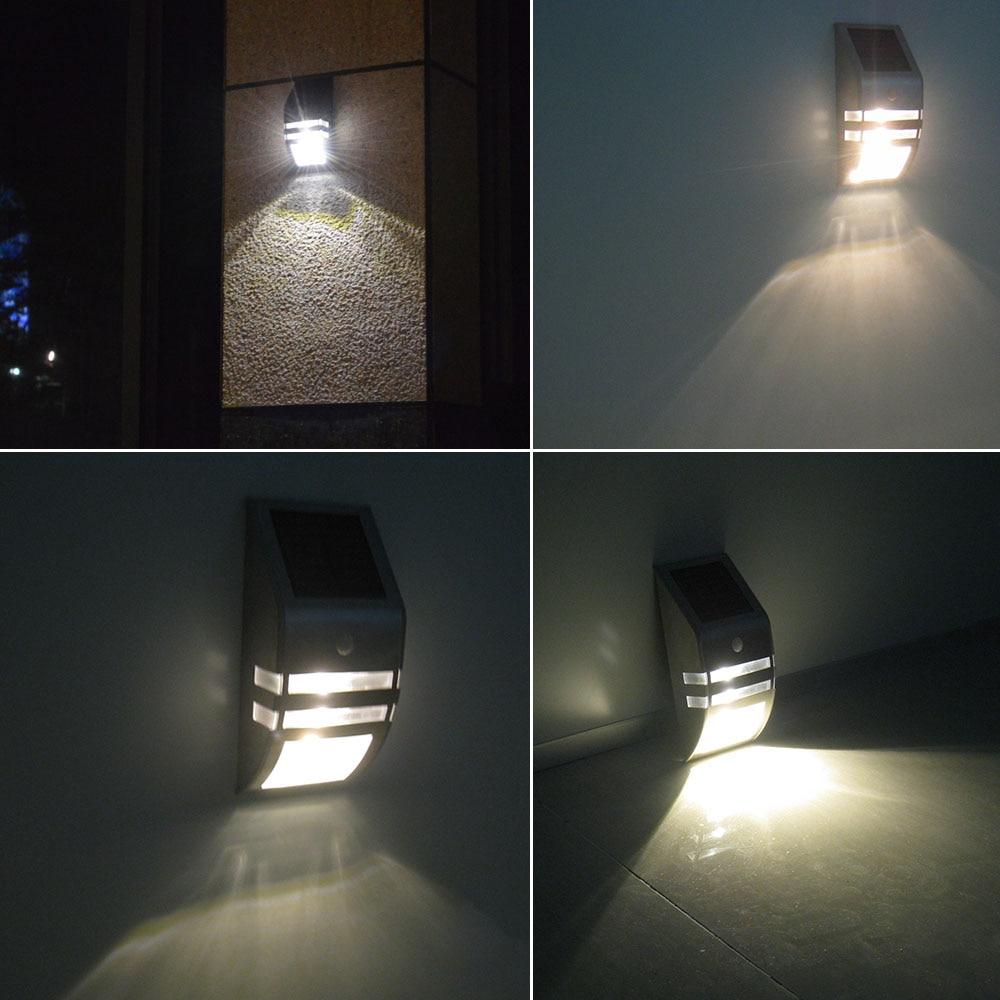 Waterproof 3 LEDs 120LM PIR Solar Motion Sensor Lamp Garden Yard Path Wall Light