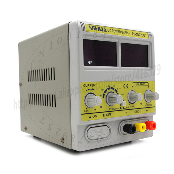ФОТО New Digital Precision DC Power Supply Adjustable Stable Lab Grade 1502DD Input AC110V 50Hz/60Hz Output 15V 2A