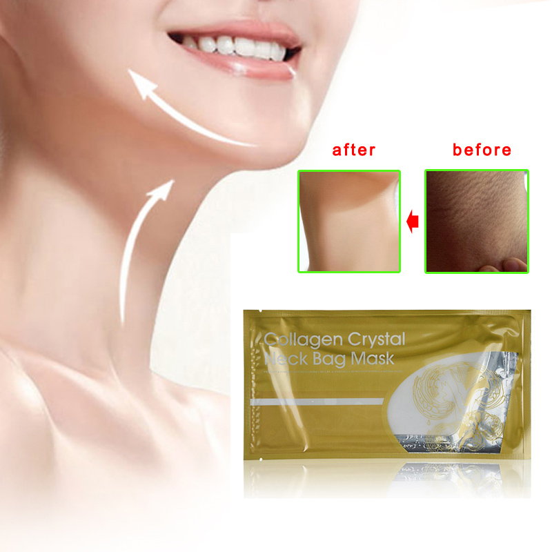 Women Whitening Anti-Aging Wrinkle Crystal Collagen Neck Mask Patch Beauty Health Moisture Peeling Mask