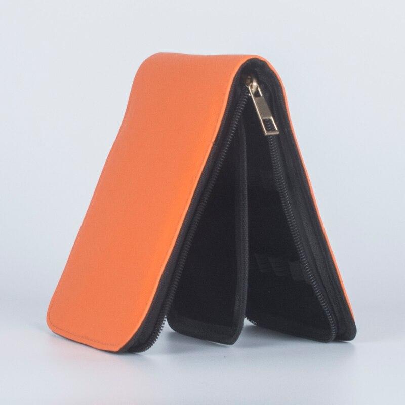 Image 2 - 패션 오렌지 12 펜 가죽 가방 12 pcs 럭셔리 비즈니스 선물 펜을 설치할 수 있습니다bag nikebag bucketbag -