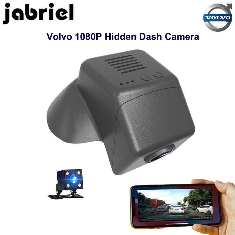 Jabriel ukryty wifi Auto samochód dvr dla volvo dash cam 1080 p rejestrator wideo kamera z podwójnym obiektywem 2015 2016 2017 2018 volvo v40 T3 T4 T5