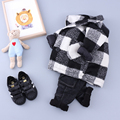 Hot Sale Baby Boys and Girls Coat Children Clothes Kids Wool Coat For Boys Girls Long Sleeve Plaid Wool Coat Jacket Outwear