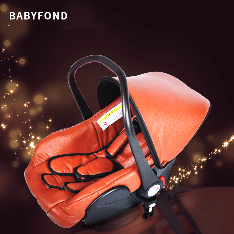 PU material baby carrier child safety seat car newborn baby sleeping basket car portable cradlePU material baby carrier child safety seat car newborn baby sleeping basket car portable cradle