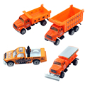 Happy Cherry 1 Set 4 PCS 1:64 Scale Diecast Metal Transport Truck Toy Mini Model Vehicle Cars Toys for Kids Children