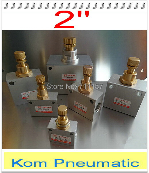 Pneumatic Flow Control Valves : Bsp quot pneumatic air flow control valve shuttle valves