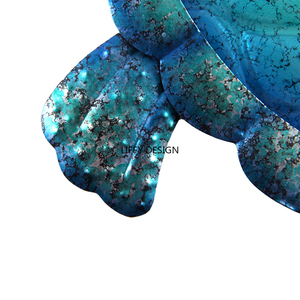 Image 4 - Liffy Gift Blue Metal Turtle Wall Artwork for Garden Decoration Outdoor Animal for Garden Statues Miniatures and Sculptures Yard
