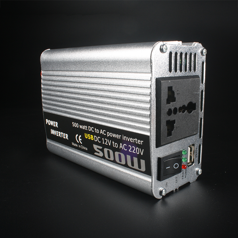 High-power 12V Boost to 220V 500W Modified Sine Wave Car Power Inverter New
