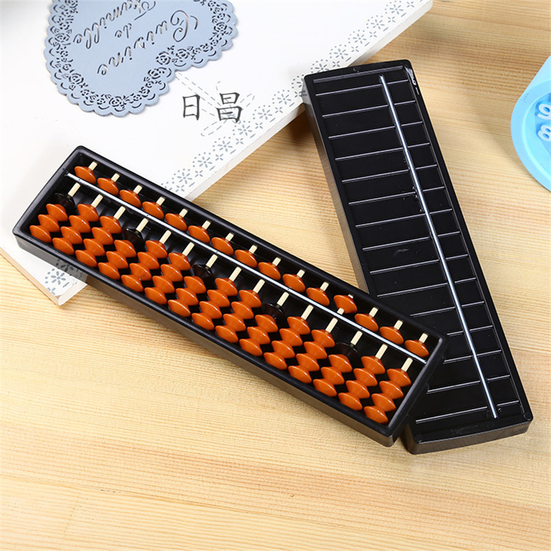2 Colors Plastic 15 Digits Abacus Toys Arithmetic Tool Math Calculator Kids Learning Educational Caculating Toy Gifts