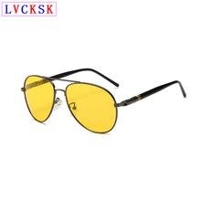 Polarized Photochromic Pilot goggles Night Vision Glasses Yellow Lens Brown Sunglasses for Driving Day And Eyewear L3