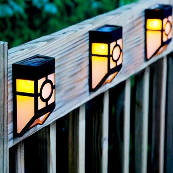 Solar Led Wall Lamp Solar Powered Led Path Fence Lamp Outdoor Lighting  Solar Wall Light Countryside