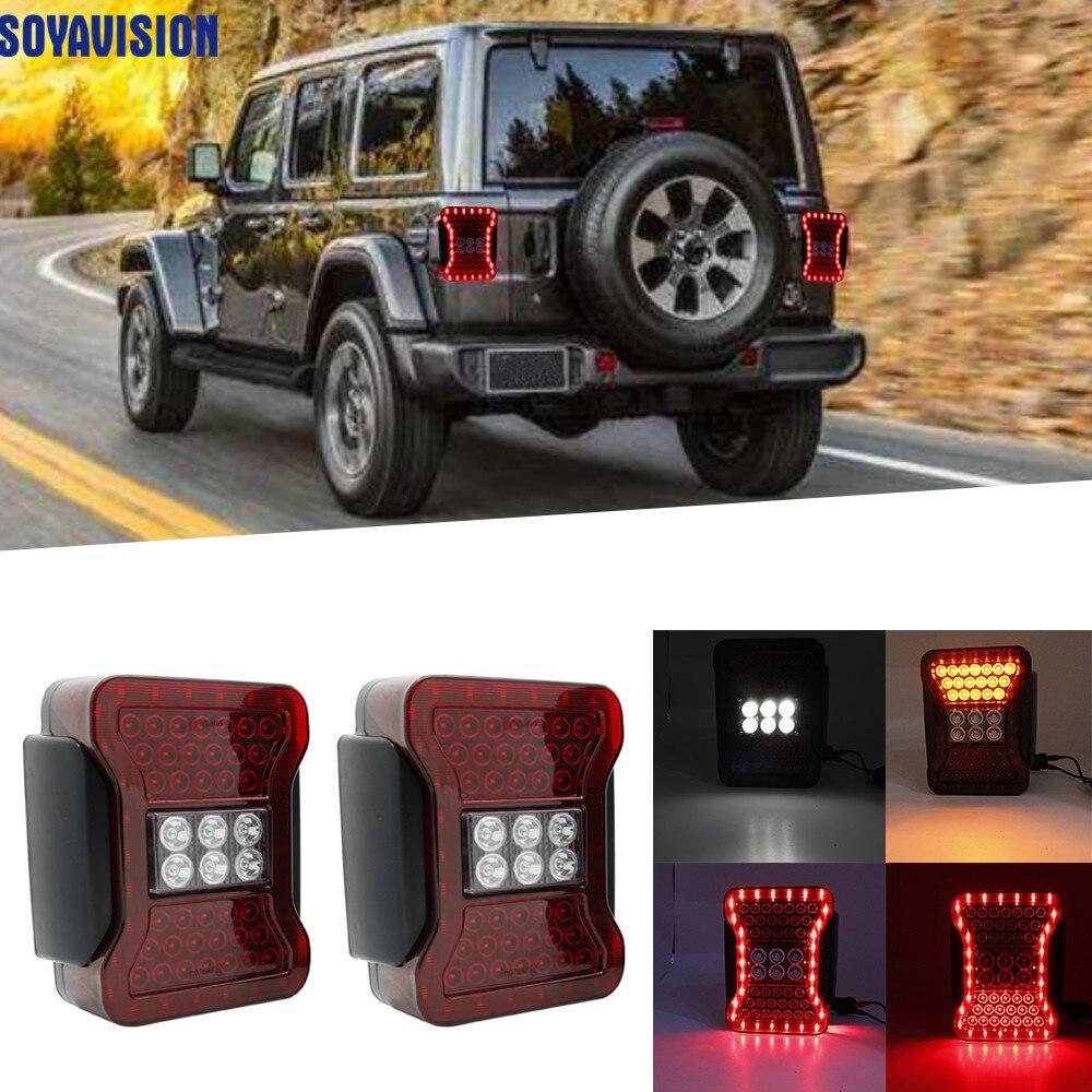 New Usa European Version Led Tail Lamp For Jeep Wrangler Jk 07 17 Car Tail Light Series Rear Lamps Brake Reverse Light Car Light Assembly Aliexpress
