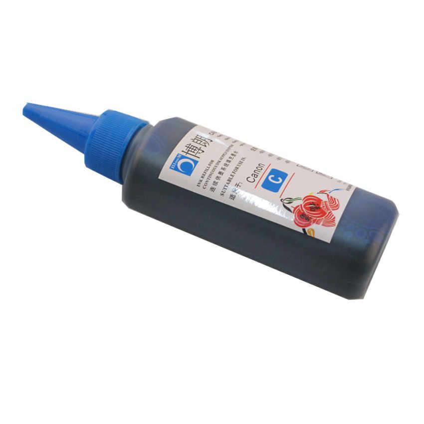 600ml uniwersalny 6 farba kolorowa zestaw 100ML każdej butelki dla Canon PIXMA mg7720 MG7730 MG7740 MG7750 MG7760 MG7770 MG7790 drukarki