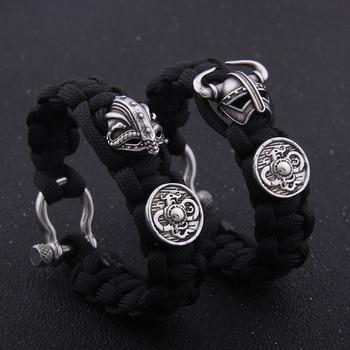 Vikings Helmet and Shield Rope Bracelets  Viking Bracelet