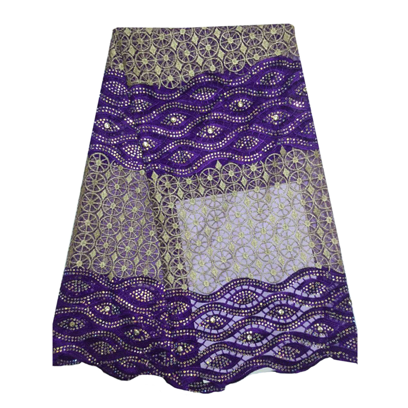 Nigerian style purple french net lace accessories font b clothing b font ladies High quality african