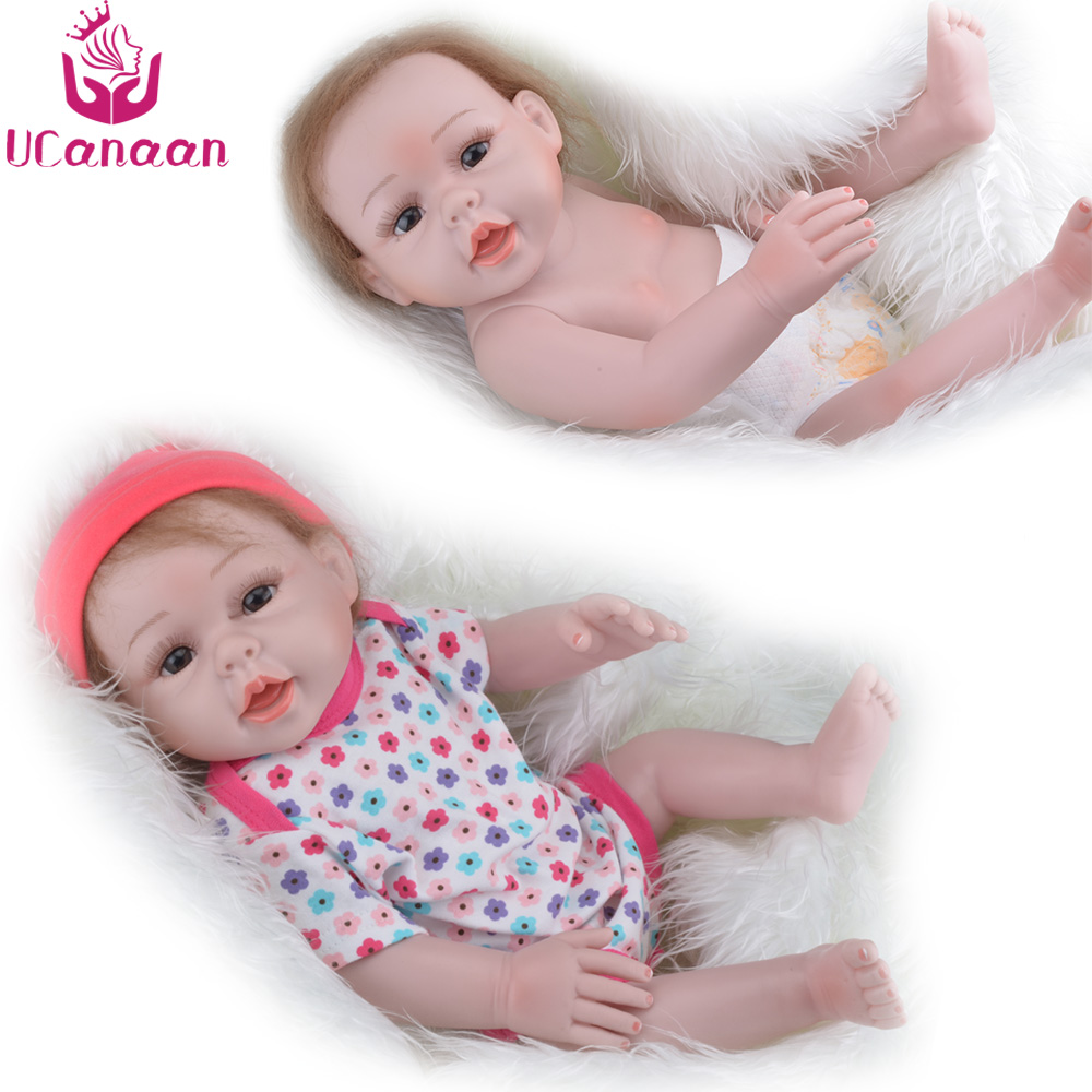 52CM UCanaan Baby Doll Reborn 22 Full Silicone Vinyl Body Children Play House Toys bebe gift
