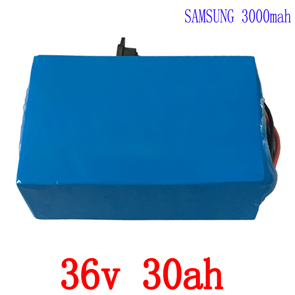 36V 30AH 1500W use for Samsung cell  Electric Bike Battery Lithium Scooter Battery For Bafang Motor With 50A BMS and 42v Charger intocircuit® new 36v 1 5a 1500ma electric bike motor scooter battery charger power supply adapter for gt gt750 electric scooter