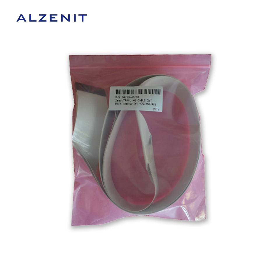 ALZENIT For HP 430 450 455 OEM New Trailing Cable 24 inch C4713-60181 Printer Parts On Sale new 1 x trailing cable for hp deskjet 1280 cable hp1280 c8173 length 58cm