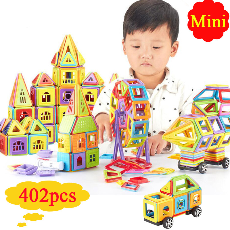 402pcs Mini Magnetic Blocks Designer Construction Set Building Toy Plastic Kids