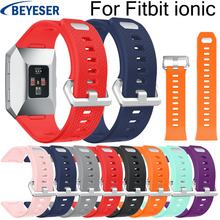 Multicolor silicone replacement watch band SL code For Fitbit ionic classic sport watchband for fitbit ionic bracelet watchstrap for fitbit ionic sport watches straps silicone strap watch band bracelet replacement for fitbit ionic smart watch wristband belt