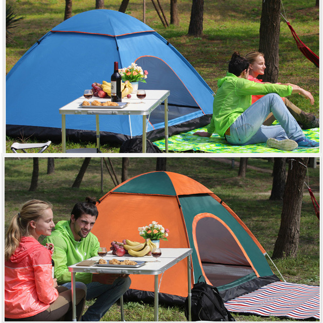 Automatic Pop Up Outdoor Camping Tent 1 2 3 4 Person Multiple Models Easy Open Family