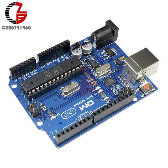 UNO R3 ATmega328P Mega328 Development Board Module CH340G CH340 Board ATMEGA16U2 Buzzer Microcontroller 3.3V 5V DC