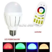smart lighting wifi rgb led bulb e27 6w with remote controller (1pcs led bulb +1x controller)