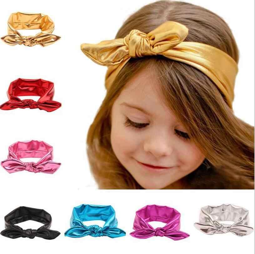 1 ชิ้น MAYA STEPAN เด็ก Headwear สาวหัวทารกแรกเกิดการถ่ายภาพเด็กวัยหัดเดิน Hairband Headwrap Bunny Ear Bowknot Metallic
